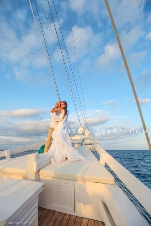 свадьба на бали, свадебная церемония на бали, свадьба на яхте, организация свадьбы на бали