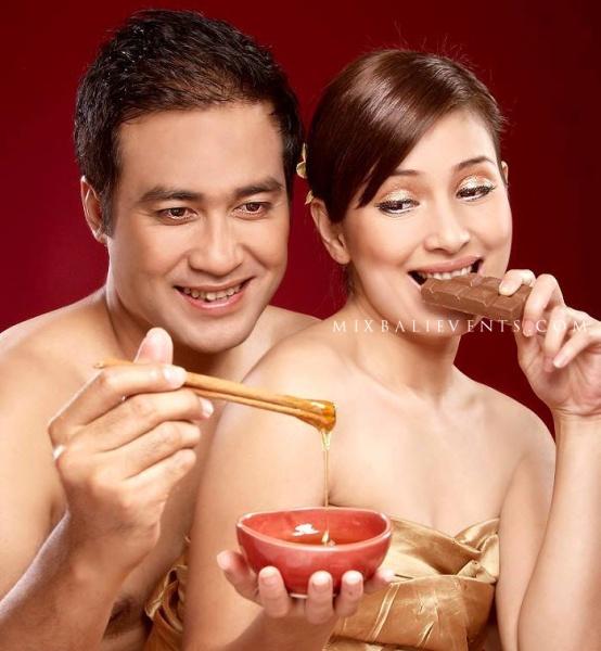 романтическая спа-сессия для молодых, свадьба на бали, свадебная церемония на бали