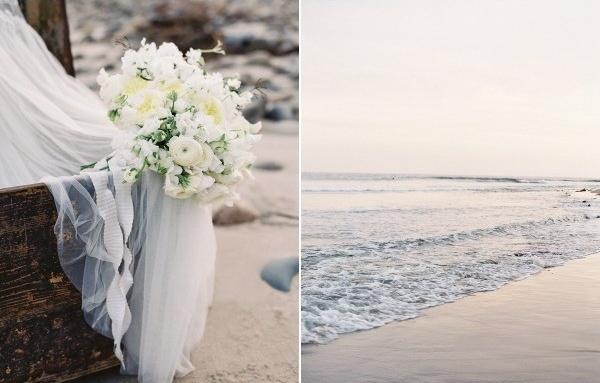 Винтажная свадьба на берегу океана