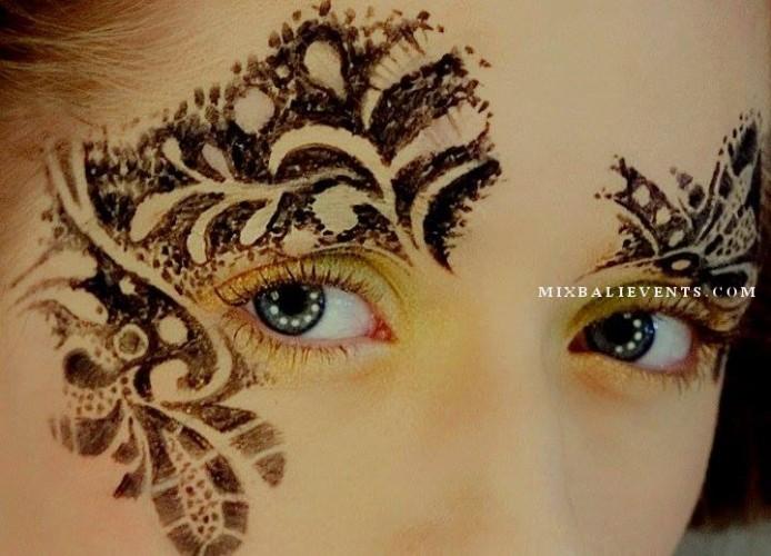 свадьба на бали, церемония на бали, образ невесты, боди-арт