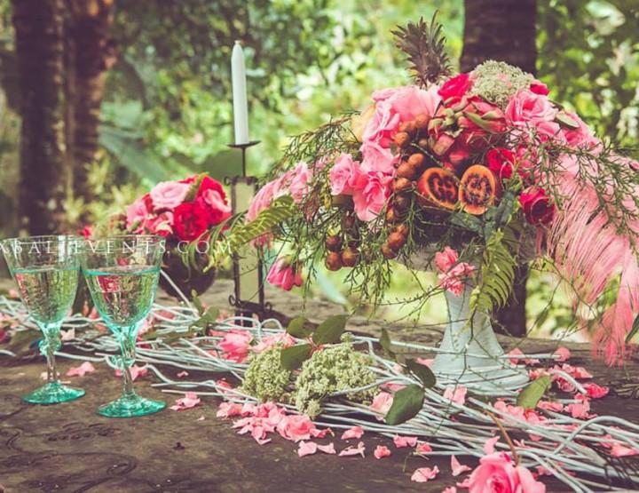 Розовый декор в стиле