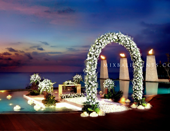 Свадьба на бассейне Инфинити с видом на океан №3