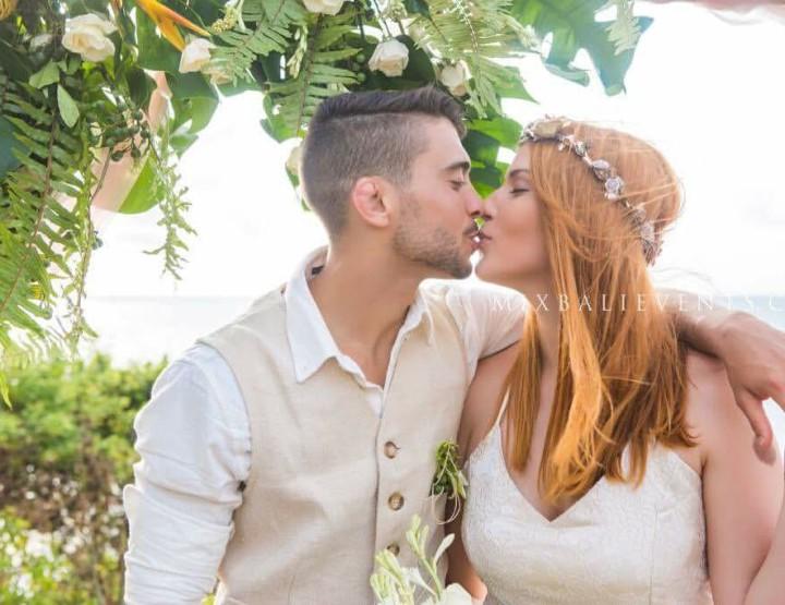 Тропическая свадьба на Утесе над океаном