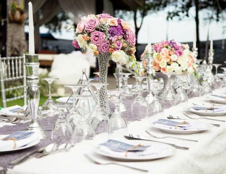 Декор стола в Лавандовом цвете