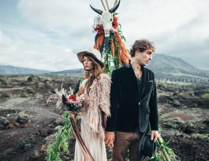 NEW 2018! Moody & Boho Свадьба на Вулкане