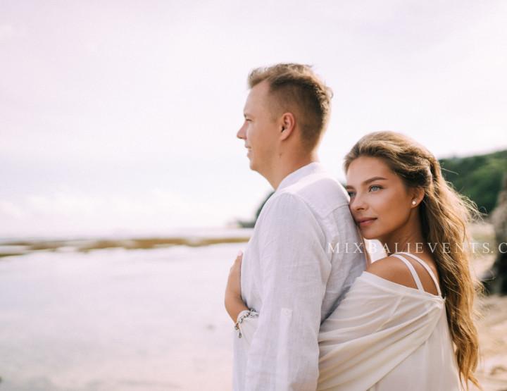 Стильная Свадьба на пляже с белым песком для наших молодых Алины и Андрея.