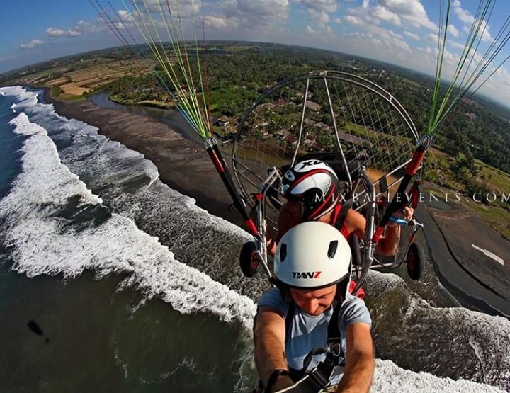 Полет на паралете над Бали