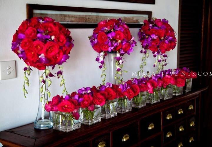 Декор в цвете фуксия