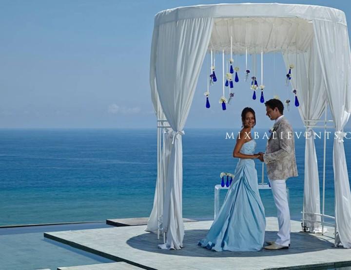 Свадьба на бассейне Инфинити с видом на океан