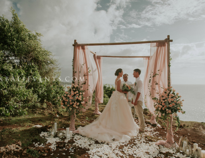 Тренд 2017 - Свадьба в цвете Blush у океана