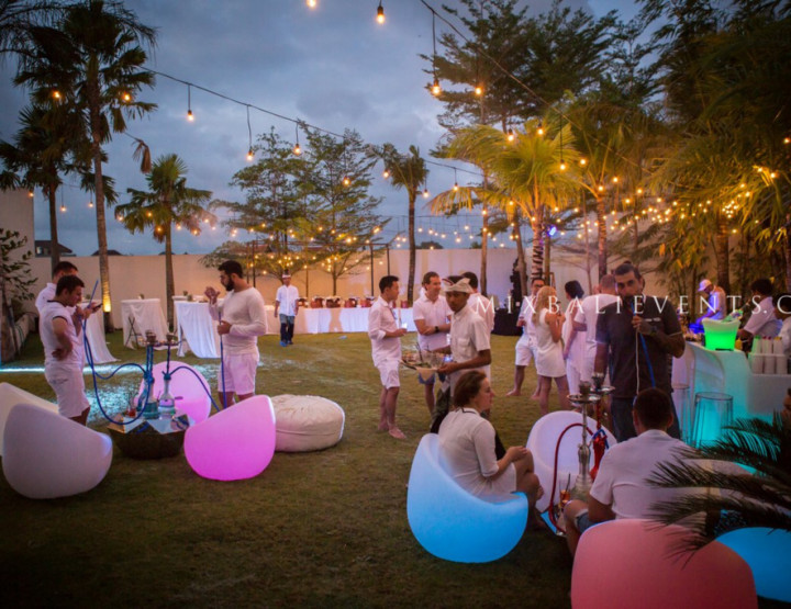 WHITE PARTY - вечеринка на вилле на Бали - стильное корпоративное мероприятие