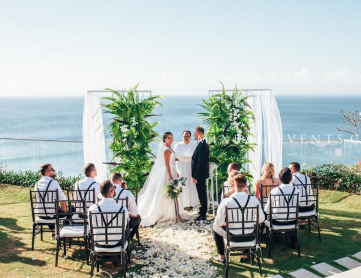 Свадьба на вилле с гостями