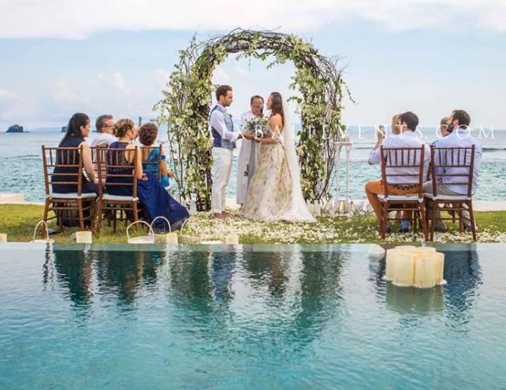 Стильная Свадьба в серых тонах на вилле с гостями