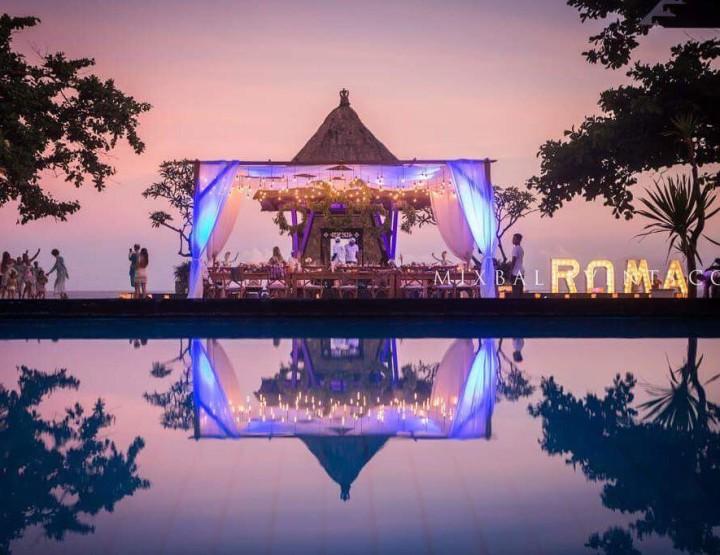 День рождения на Вилле у океана - в MIX Bali Events. Декор в стиле Provence Chic.
