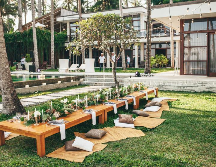 Декор стола в Тропическом стиле