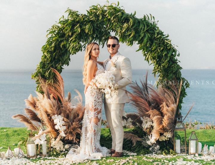 Стильная Свадьба на утесе над Индийским океаном